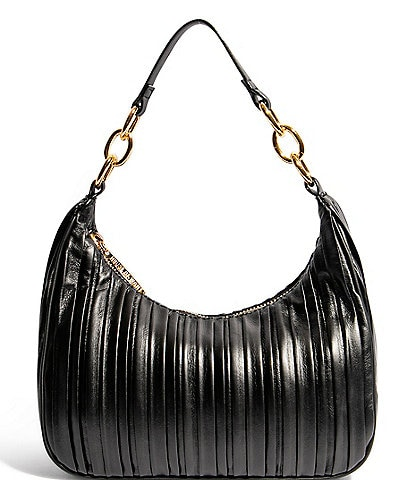House of Want Newbie Pleated Leather Hobo Bag