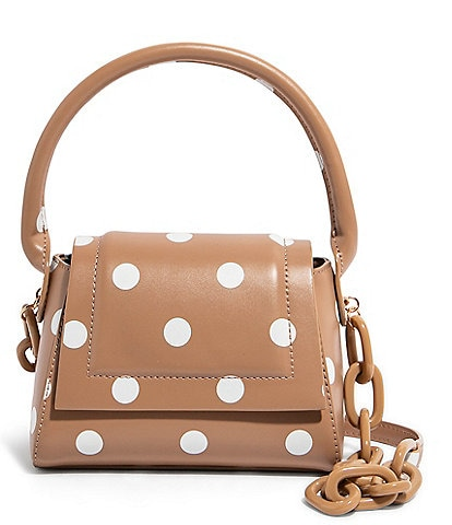 House of Want We Are Chic Polka Dot Vegan Leather Crossbody Bag