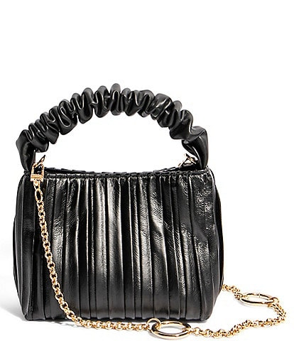 House of Want We Brunch Pleated Leather Mini Tote Bag