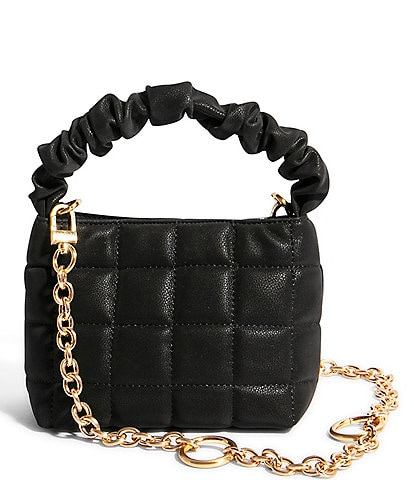 House of Want We Brunch Quilted Leather Ruched Mini Tote Bag