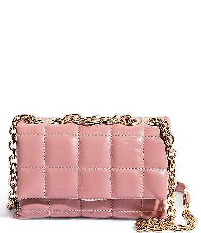 House of Want We Slay Small Quilted Chain Strap Shoulder Bag