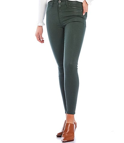 Hudson Jeans Barbara High Waist Coated Super Skinny Ankle Jean