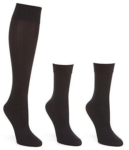 HUE Assorted Knee Hi 4 Pack Socks