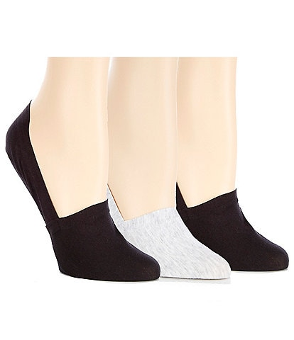 HUE Perfect Edge Cotton Loafer Liner Socks 3-Pack
