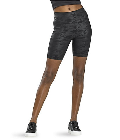 HUE Sleek Effects Faux Leather Bike Short