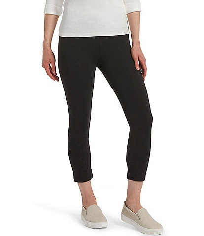 HUE Ultra Cotton Wide Waistband Capri Leggings