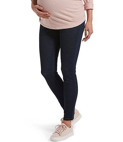 HUE Ultra Soft Denim Maternity Skimmer Leggings