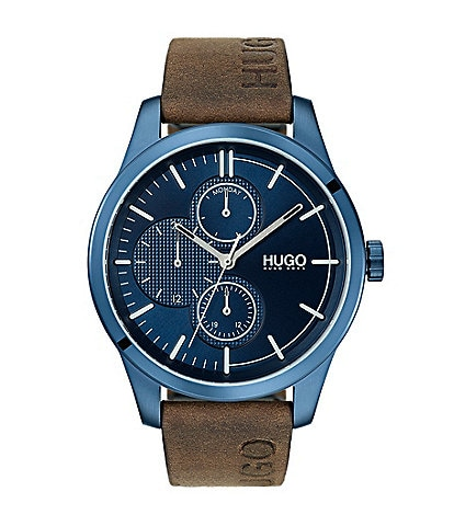 Hugo Boss #Discover Brown Leather Watch