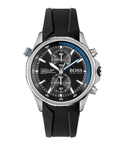 Hugo Boss Globetrotter Black Silicone Watch