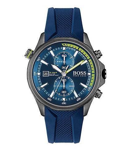 Hugo Boss Globetrotter Blue Silicone Watch