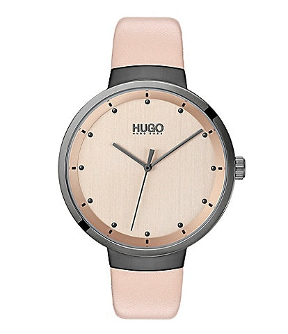 Hugo Boss #Go Pink Leather Watch