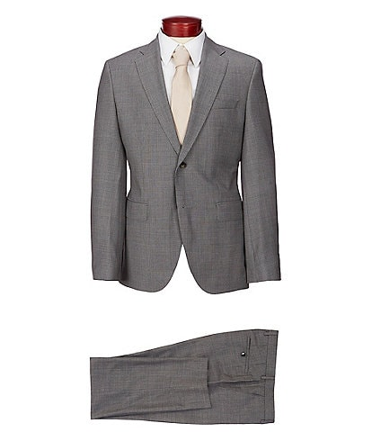 Hugo Boss Jeckson/Lenon Slim Fit Checked Wool Suit