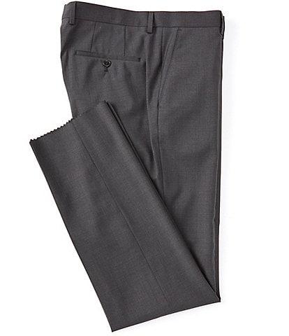 Hugo Boss Madisen Classic Fit Flat Front Solid Wool Dress Pants
