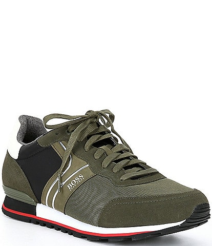 Hugo Boss Men's Parkour Suede Lace-Up Sneakers
