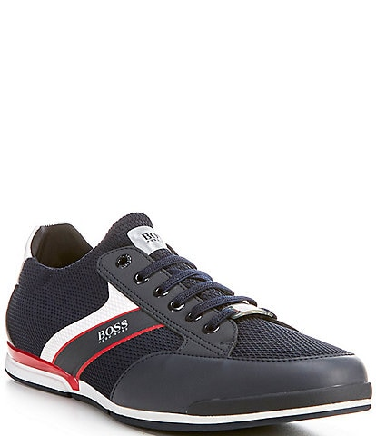 Hugo Boss Men's Saturn Stripe Mesh Sneakers