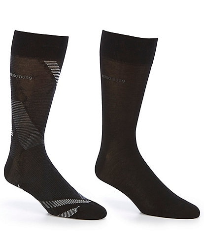 Hugo Boss RS Diagonal Stripe MC Crew Socks 2-Pack