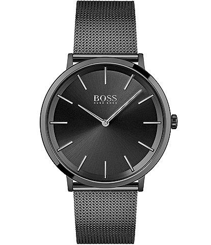Hugo Boss Skyliner Black Mesh Bracelet Watch