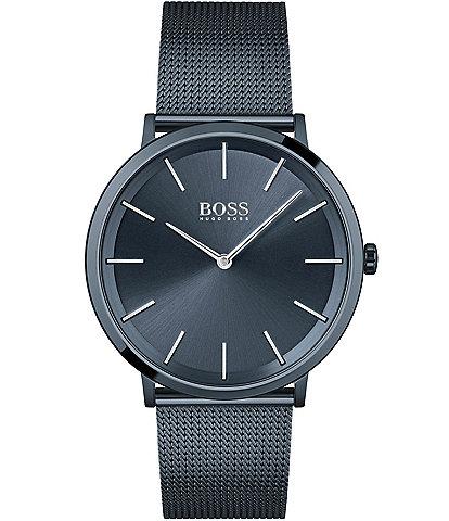Hugo Boss Skyliner Blue Mesh Analog Bracelet Watch