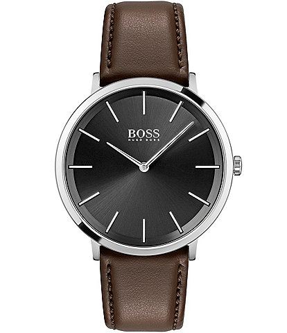 Hugo Boss Skyliner Brown Leather Watch