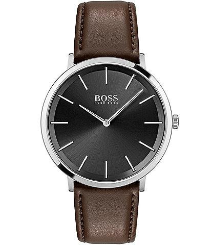 Hugo Boss Skyliner Brown Leather Watch