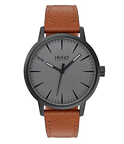 Hugo Boss Stand Brown Leather Watch