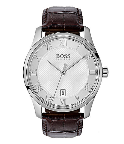 BOSS Hugo Boss THE BOSS WATCHES MASTER COLLECTION Leather Watch