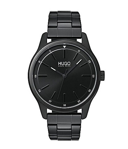 HUGO by Hugo Boss #Dare Black IP Bracelet Watch