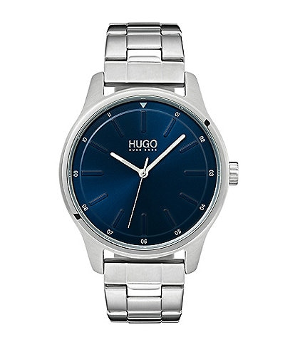 HUGO HUGO BOSS #Dare Stainless Steel Blue Dial Bracelet Watch