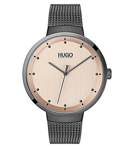 HUGO HUGO BOSS #Go Grey IP Mesh Watch