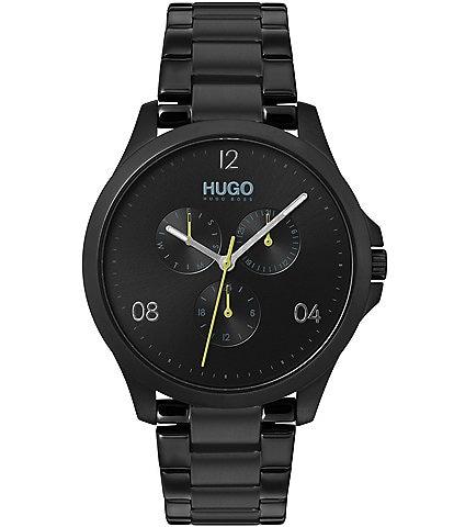 HUGO HUGO BOSS #Risk Black IP Stainless Steel Multifunction Bracelet Watch