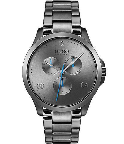 HUGO HUGO BOSS #Risk Grey IP Stainless Steel Multifunction Bracelet Watch
