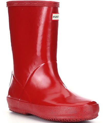 Hunter Kids' First Gloss Waterproof Rain Boots (Toddler)