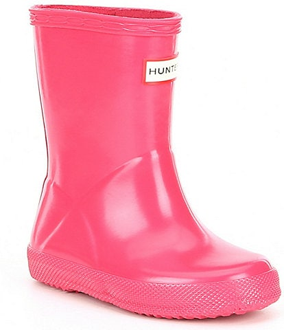 Hunter First Gloss Kid's Waterproof Rain Boots