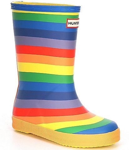 Hunter Girls' Class Rainbow Print Rain Boots (Infant)