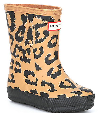 Hunter Girls' First Classic Hybrid Leopard Print Rainboots (Infant)
