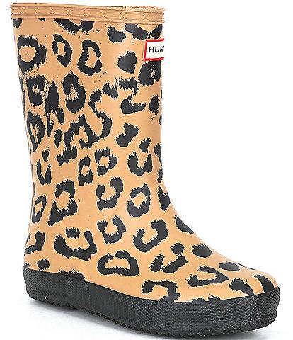 Hunter Girls' First Classic Hybrid Leopard Print Rainboots (Toddler)