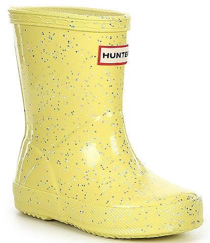 Hunter Girls' First Giant Glitter Waterproof Rainboots (Infant)