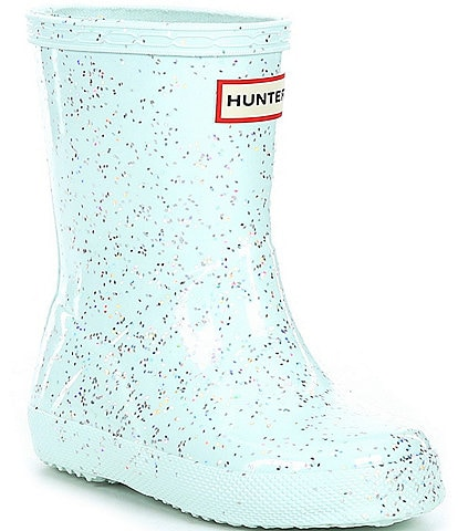 Hunter Girls' First Giant Glitter Waterproof Rainboots (Toddler)