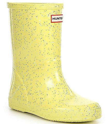 Hunter Girls' First Giant Glitter Waterproof Rainboots (Toddler)