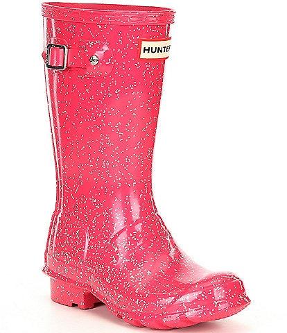Hunter Girls' Original Giant Glitter Waterproof Rainboots (Youth)