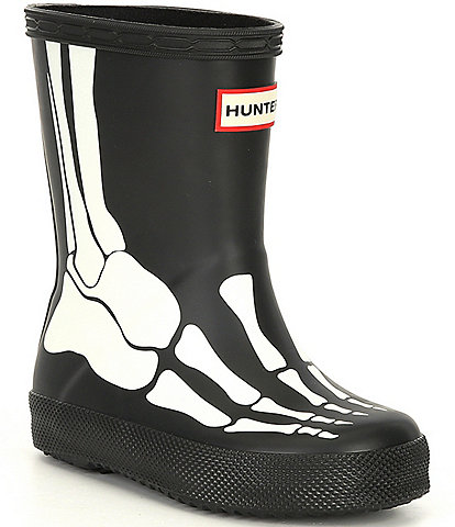 Hunter Kids' First Classic Skeleton Print Waterproof Rainboots (Toddler)