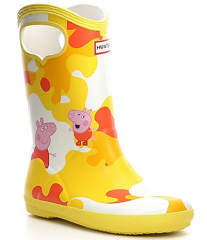 Hunter Kid's First Classic Waterproof Pull-On Peppa Muddy Puddles Boot