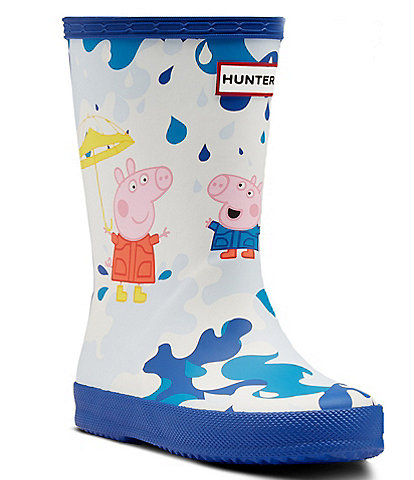 Hunter Kid's First Peppa Pig Muddy Puddle Rain Boots (Toddler)