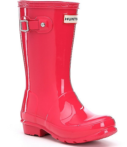 Hunter Original Gloss Kids' Waterproof Buckle Strap Rain Boots