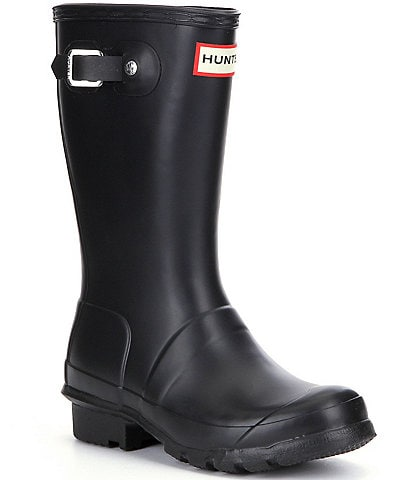 Hunter Kids' Original Matte Waterproof Buckle Strap Rain Boots (Youth)