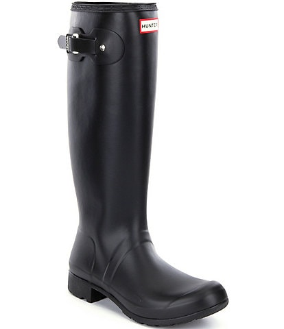 Hunter Women's Original Matte Tour Buckle Strap Rain Boots