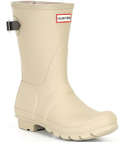 Hunter Original Short Adjustable Back Matte Rain Boots