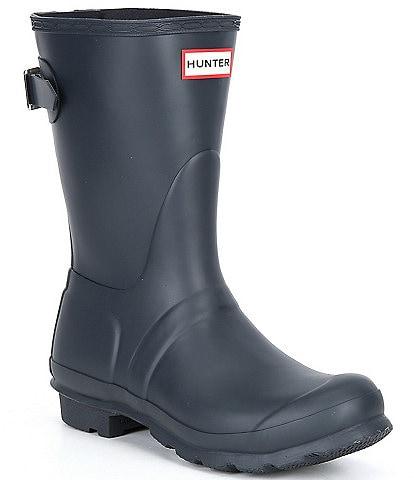 Hunter Original Short Adjustable Back Matte Rain Boots