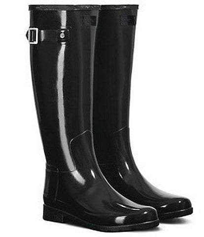 Hunter Women's Original Refined Gloss Buckle Strap Rain Boots