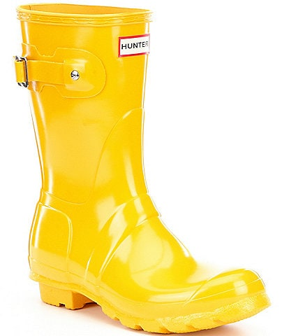 Hunter Women's Original Short Gloss Buckle Strap Rain Boots